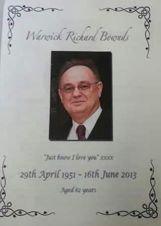 Warwick Bownds memorial